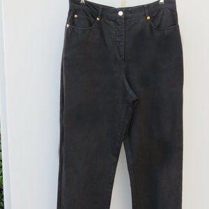 St. John Sport 12  Denim Cotton Wide Leg Pants